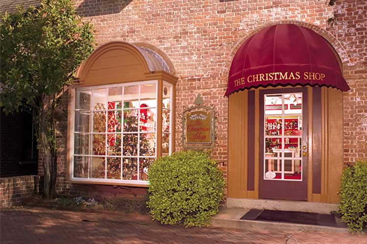 previous next williamsburgs first christmas store - The Christmas Shop